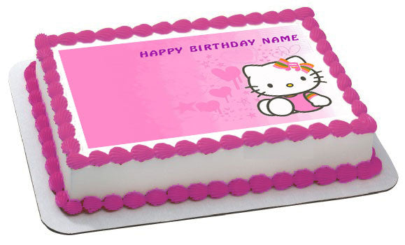 Hello Kitty Character 3 Birthday Cake Or Cupcake Topper
