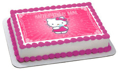Hello Kitty Character 1 Edible Birthday Cake Topper OR Cupcake Topper, Decor - Edible Prints On Cake (Edible Cake &Cupcake Topper)