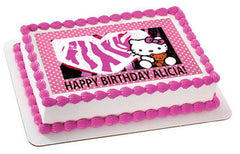 Hello Kitty and Bear Edible Birthday Cake Topper OR Cupcake Topper, Decor
