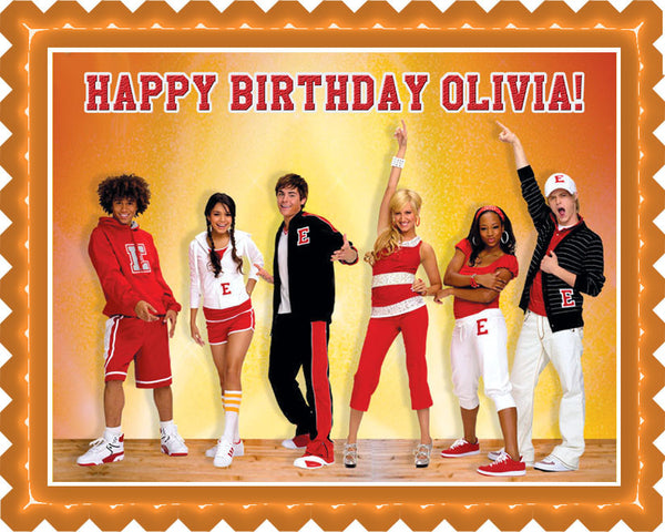 High School Musical Edible Birthday Cake Edible Prints