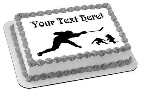Hockey Players - Edible Cake Topper, Cupcake Toppers, Strips