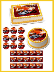 Hot Wheels Edible Birthday Cake Topper OR Cupcake Topper, Decor