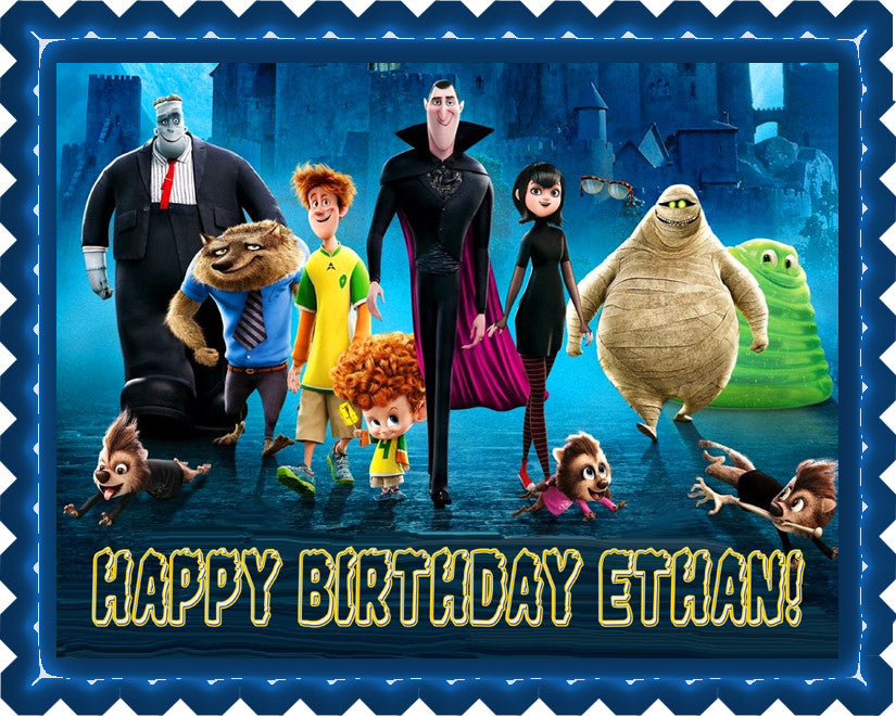 Hotel Transylvania Edible Birthday Cake Topper OR Cupcake Topper, Decor - Edible Prints On Cake (Edible Cake &Cupcake Topper)