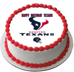 Houston Texans - Edible Cake Topper OR Cupcake Topper, Decor