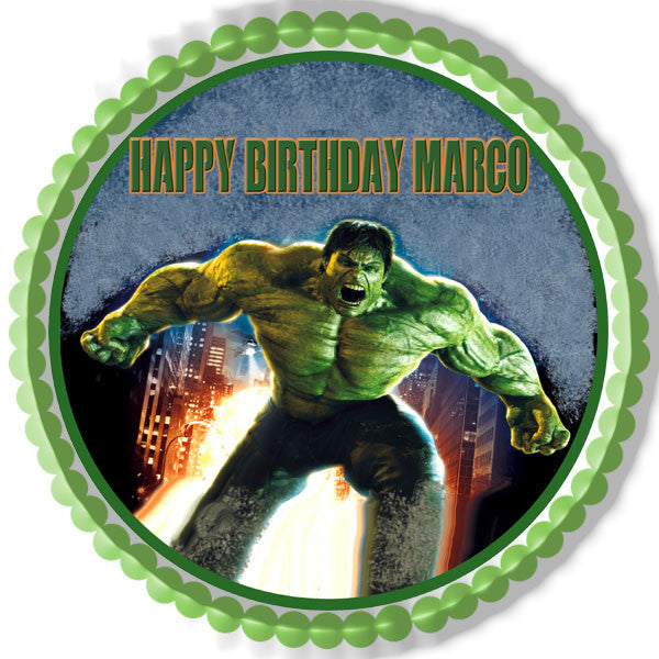 Hulk Edible Cake Topper Edible Prints On Cake Epoc