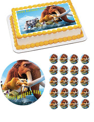 Ice Age Edible Birthday Cake Topper OR Cupcake Topper, Decor - Edible Prints On Cake (Edible Cake &Cupcake Topper)