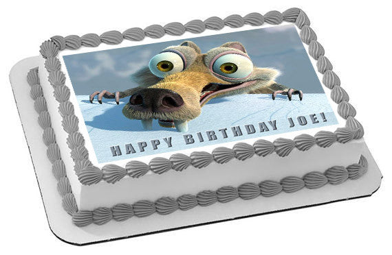 Ice Age 5 C Collision Course Edible Birthday Cake Topper T