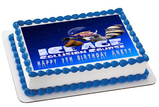 Ice Age 5 B Collision Course Edible Birthday Cake Topper OR Cupcake Decor