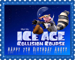 Ice Age 5 B Collision Course Edible Birthday Cake Topper OR Cupcake Topper, Decor