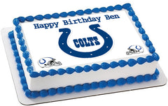 Indianapolis Colts Edible Birthday Cake Topper OR Cupcake Topper, Decor