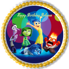 Inside Out Anger 1 Edible Birthday Cake Topper OR Cupcake Topper, Decor