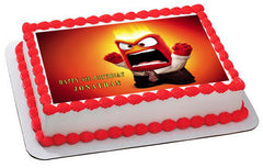Inside Out Anger 5 Edible Birthday Cake Topper OR Cupcake Topper, Decor