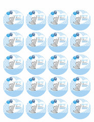 It's a Boy Elephant Baby Shower - Edible Cake Topper, Cupcake Toppers, Strips