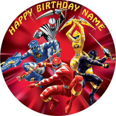 Power Rangers Edible Birthday Cake Topper OR Cupcake Topper, Decor - Edible Prints On Cake (Edible Cake &Cupcake Topper)
