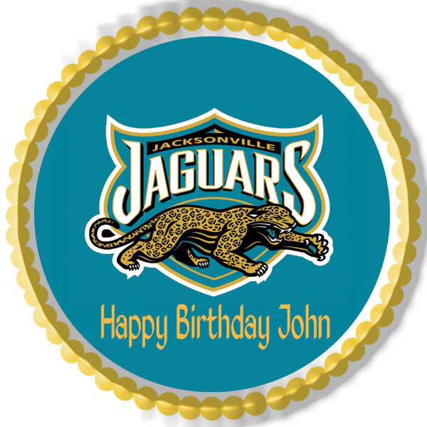 Jacksonville Jaguars Happy Birthday Cake