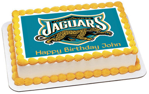 Jacksonville Jaguars Edible Birthday Cake Topper OR Cupcake Decor