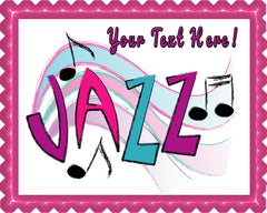 Jazz - Edible Cake Topper, Cupcake Toppers, Strips