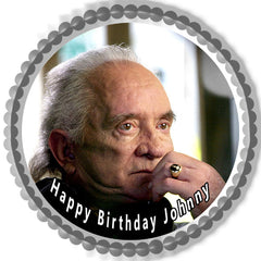 Johnny Cash 1 Edible Birthday Cake Topper OR Cupcake Topper, Decor