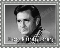 Johnny Cash (Nr2) - Edible Cake Topper OR Cupcake Topper, Decor