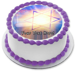 Judaism Church Traditional Symbols - Edible Cake Topper, Cupcake Toppers, Strips