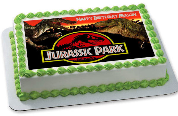 Jurassic Park Edible Birthday Cake Or Cupcake Topper