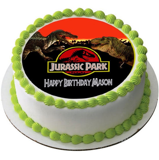 Jurassic Park Edible Birthday Cake Or Cupcake Topper Edible Prints