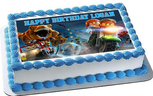 Jurassic World Dinosaur Lego Edible Cake Topper Cupcake Toppers