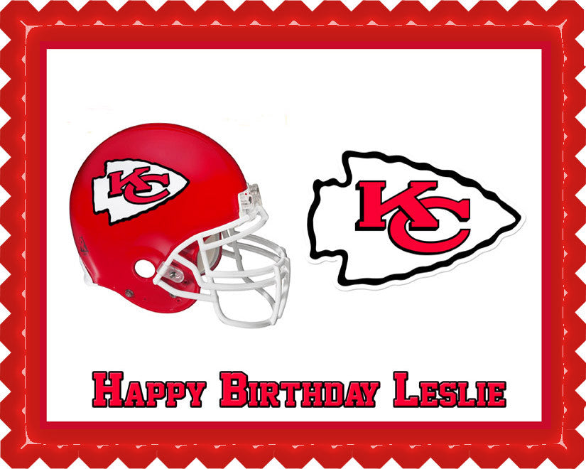 Kansas City Chiefs Edible Cake Topper Cupcake Toppers Edible