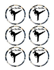Karate Girl - Edible Cake Topper, Cupcake Toppers, Strips