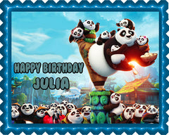 Kung Fu Panda 3 B Edible Birthday Cake Topper OR Cupcake Topper, Decor - Edible Prints On Cake (Edible Cake &Cupcake Topper)