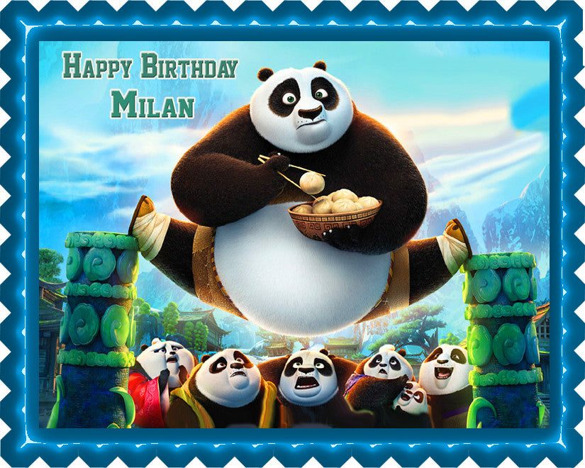 Kung Fu Panda 3 Edible Cake Topper Cupcake Toppers Edible Prints