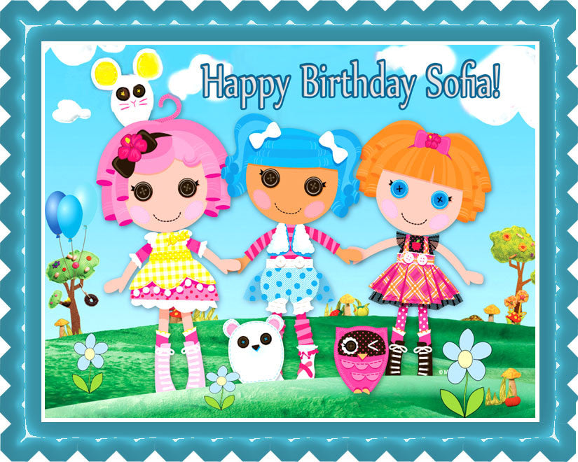 Wondrous Lalaloopsy Edible Birthday Cake Or Cupcake Topper Edible Prints Personalised Birthday Cards Rectzonderlifede