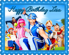 Lazy Town Edible Birthday Cake Topper OR Cupcake Topper, Decor - Edible Prints On Cake (Edible Cake &Cupcake Topper)