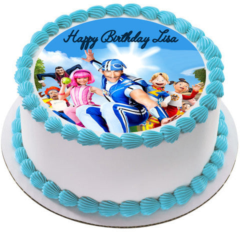 lazy town cake lazy town edible cake topper amp cupcake toppers edible 5437
