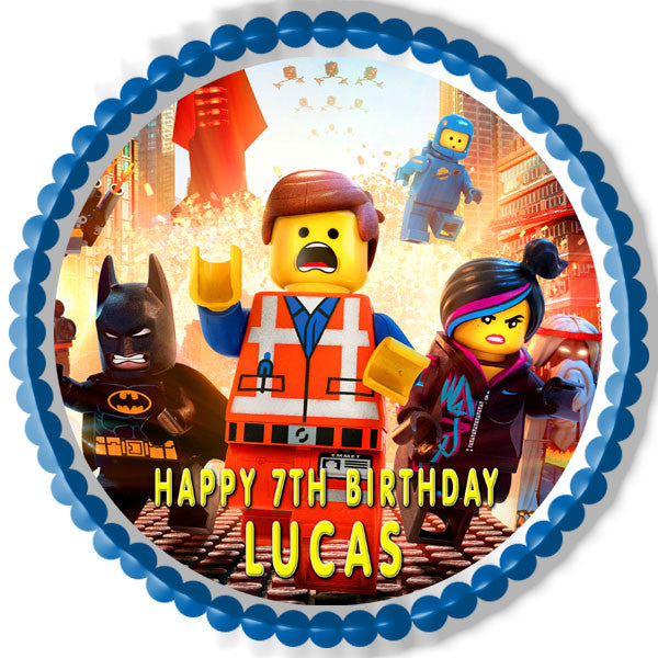 Lego Movie Edible Birthday Cake Or Cupcake Topper Edible