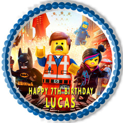 LEGO MOVIE - Edible Cake Topper OR Cupcake Topper