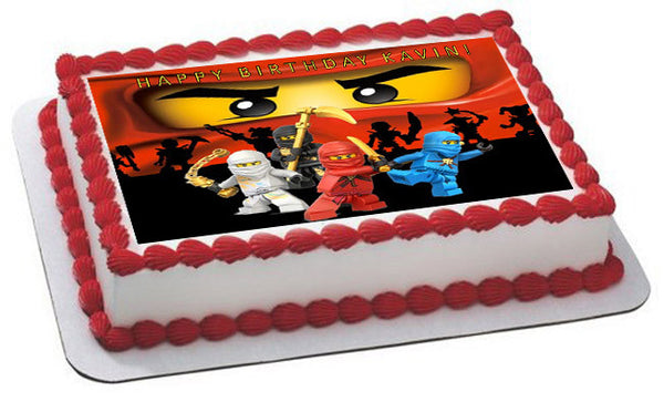 Lego Ninjago 2 Edible Birthday Cake Or Cupcake Topper