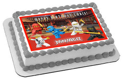 LEGO NINJAGO 1 Edible Birthday Cake Topper OR Cupcake Topper, Decor