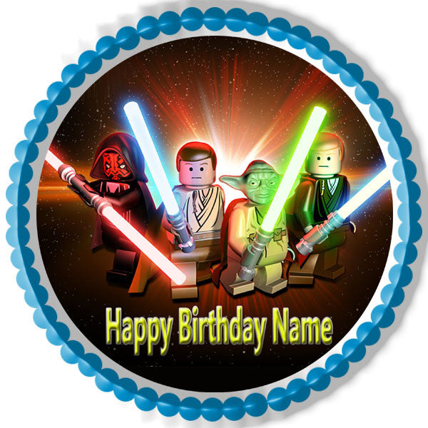 Lego Star Wars 3 Edible Birthday Cake Or Cupcake Topper