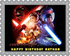 Lego Star Wars 4 Edible Birthday Cake Topper OR Cupcake Topper, Decor
