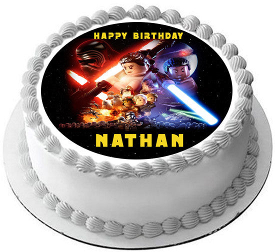 Lego Star Wars 4 Edible Cake Topper Amp Cupcake Toppers