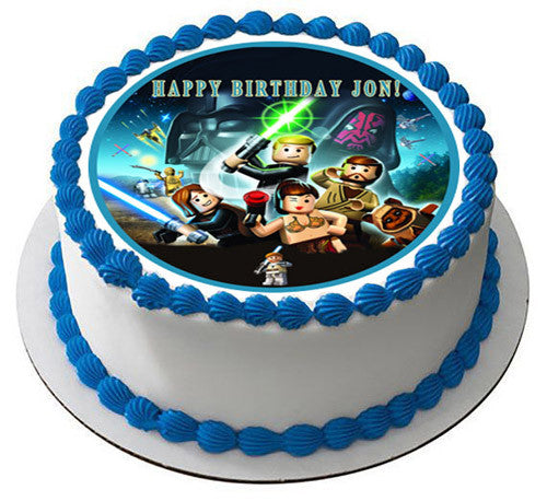 star wars cake decorations lego wars 6 edible birthday cake or cupcake topper 7672