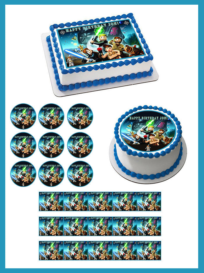 Miraculous Lego Star Wars 6 Edible Birthday Cake Or Cupcake Topper Edible Funny Birthday Cards Online Bapapcheapnameinfo