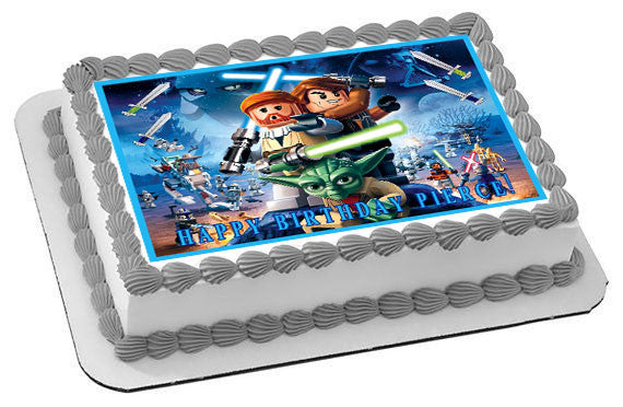 Lego Star Wars 1 Edible Birthday Cake Or Cupcake Topper