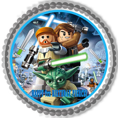 Lego Star Wars 1 Edible Birthday Cake Topper OR Cupcake Topper, Decor