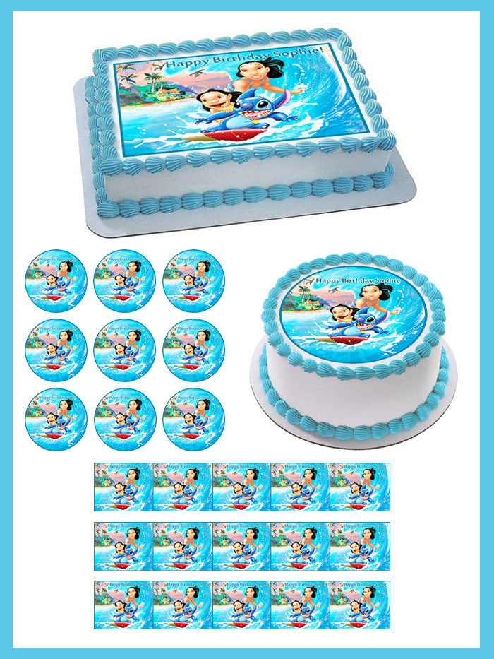 Lilo Stitch Edible Birthday Cake Or Cupcake Topper Edible Prints