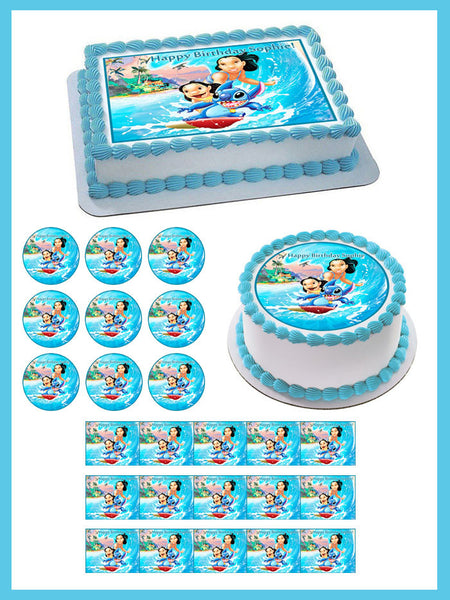 Lilo Amp Stitch Edible Birthday Cake Or Cupcake Topper