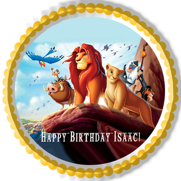 Lion King 1 Edible Birthday Cake OR Cupcake Topper ...