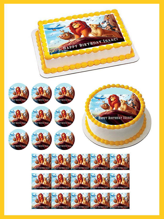 Terrific Lion King 1 Edible Birthday Cake Or Cupcake Topper Edible Prints Funny Birthday Cards Online Barepcheapnameinfo