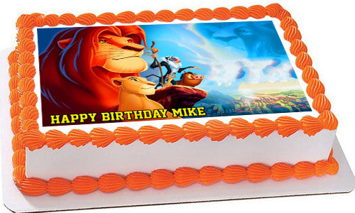 Lion King 2 Edible Birthday Cake Or Cupcake Topper